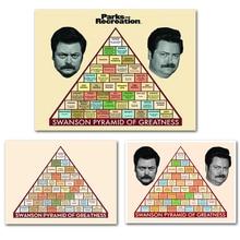 Parks and Recreation TVplay Series Poster Ron Swanson Pyramid Decorative Canvas Painting Cuadros Decoracion Salon