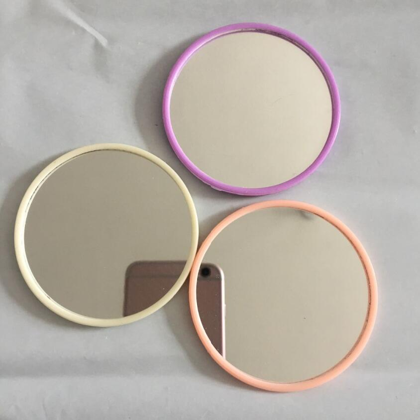 Portable Pocket Mirror Makeup Mirror Round Shape Ladies Mini Cosmetic Makeup Mirror