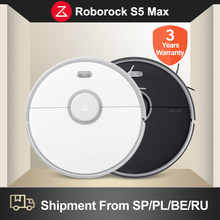 Roborock S5 Max Robot Vacuum Cleaner 100% Original WIFI APP Control Smart Sweeping Cleaning Global Version Upgrade of S50 S55