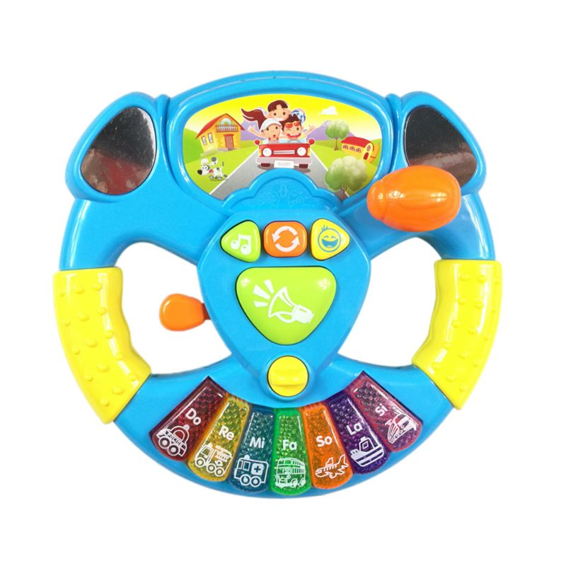 Children's Toy Musical Instrument Steering Wheel Hand Bell Development Education