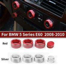 For BMW 5 Series E60 2008-2010 Aluminium Alloy Center Console Air Conditioning Volume