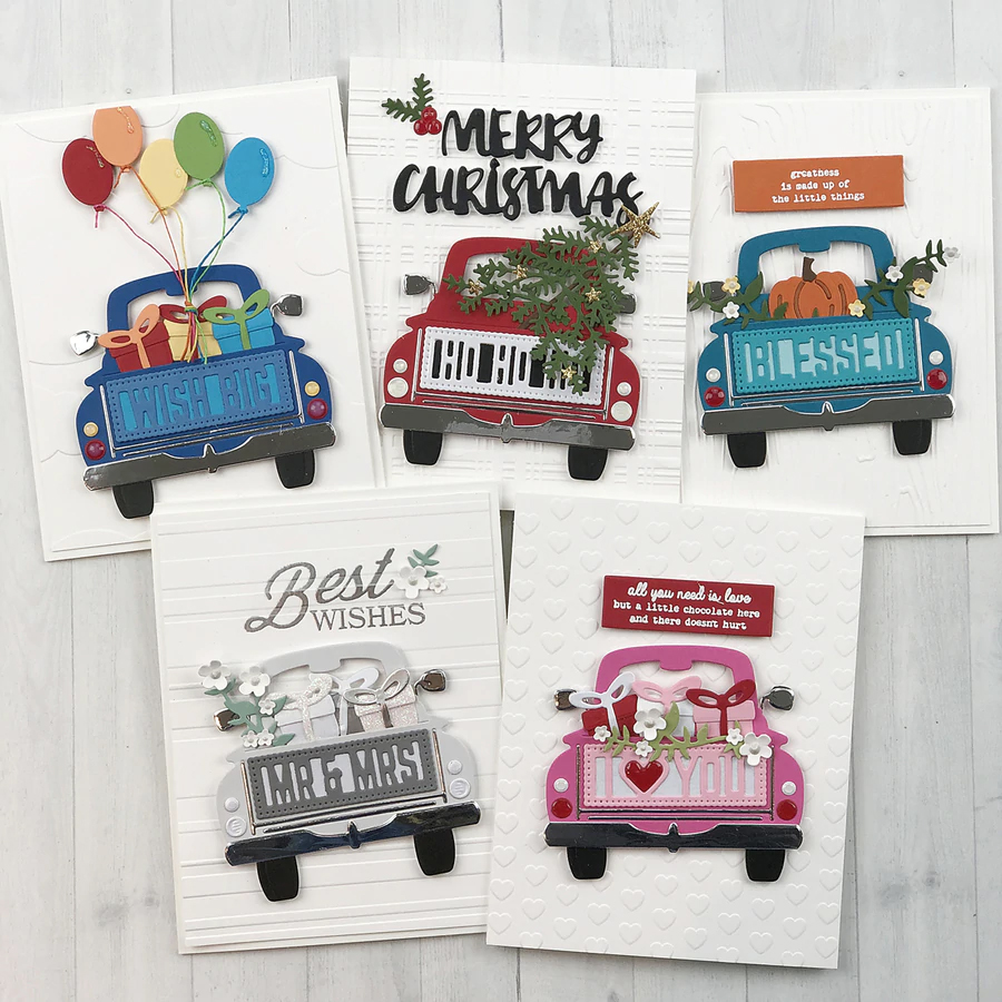 <font><b>Christmas</b></font> car background Metal <font><b>Dies</b></font> Scrapbooking Metal <font><b>Cutting</b></font> <font><b>Dies</b></font> Craft Stamps <font><b>die</b></font> Cut Embossing Card Make Stencil Frame image