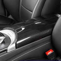 Auto Center Konsole Verstauen Aufräumen Armlehne Box Panel Dekoration Aufkleber Für Mercedes Benz C Klasse W205 GLC X253 Innen Abziehbilder