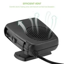 Onever 12V secador automático calentador de coche enfriador de aire ventilador parabrisas Demister Defroster calefacción eléctrica parabrisas desbobinado