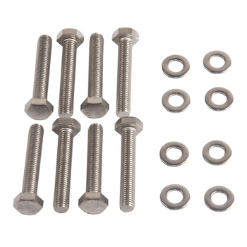 8 Kits Stainless Steel Exhaust Manifold Stud Bolt Nut for Ford 4.6 5.4 Liter
