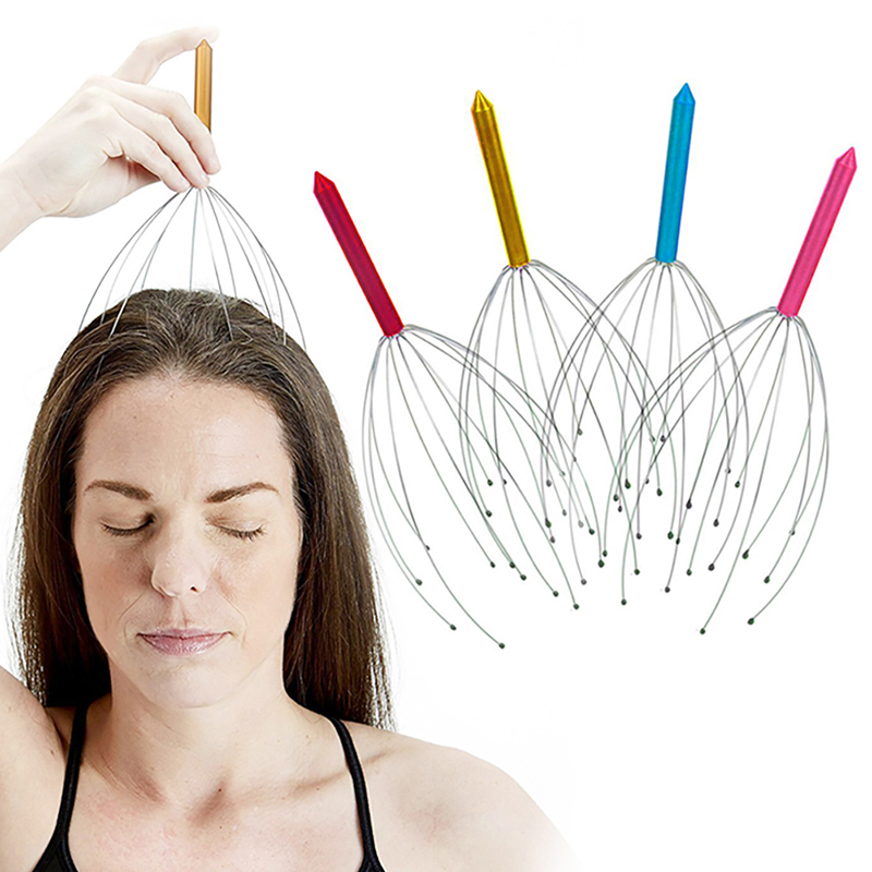 Octopus Shaped Scalp Massager for Relaxation from Stress and Tension Helps to Increase Blood Circulation