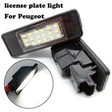 цена на For Peugeot 106 1007 207 307 308 3008 406 407 508 607 For citroen C2 C3 C4 C5 C6 C8 DS3 license plate light License Number lamp