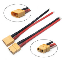 HIINST Drone accessories 2PC Of XT60 Battery connector Male Female Connector Plug with 14 AWG Wire Hot silicone wire 100mm L106