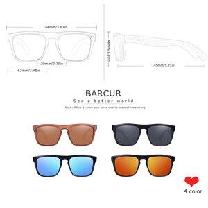 Image 4 - BARCUR erkekler kadınlar için polarize bambu güneş gözlüğü ahşap güneş gözlüğü lunette de soleil femme