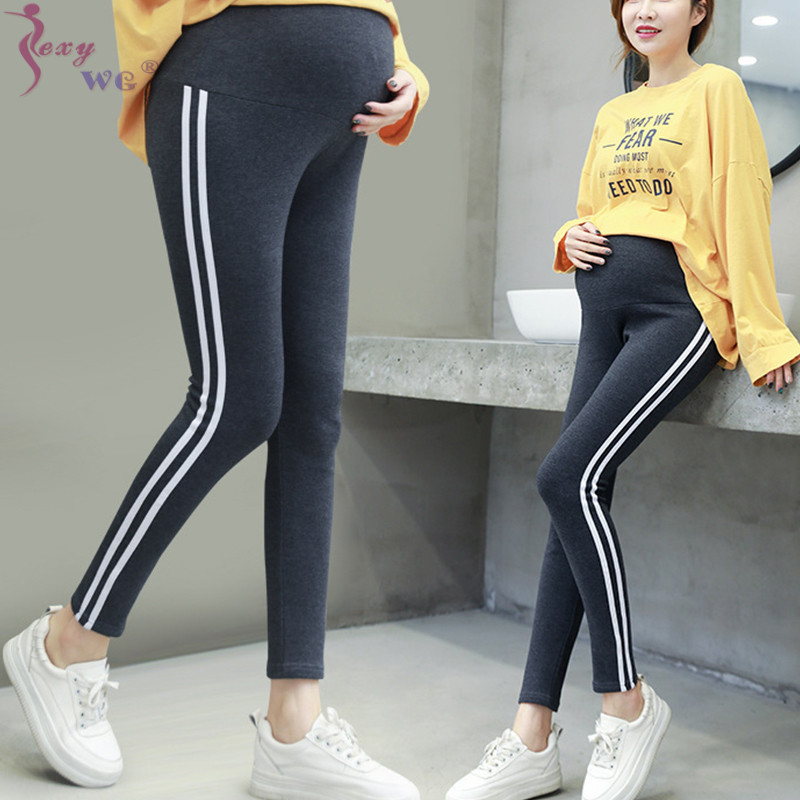 SEXYWG  Casual Maternity Legging Elastic Waist Belly Sports Legging Clothes For Pregnant Women Autumn Pregnancy Pencil Pants