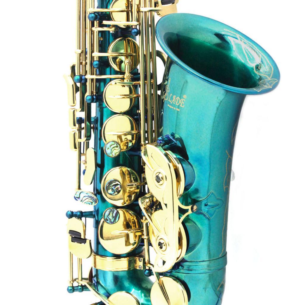 Exquisite Messing Eb Alto Saxophon Sax mit Lagerung Fall Mundstück Straps Handschuhe Reinigung Tuch - 6