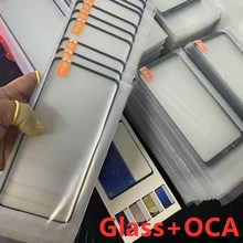 10pcs 2 in 1 Front Outer Glass With OCA Film Laminated For Samsung Galaxy S20 S10E S10 S8 S9 Note10 8 9 20 PLUS LCD Touch Lens