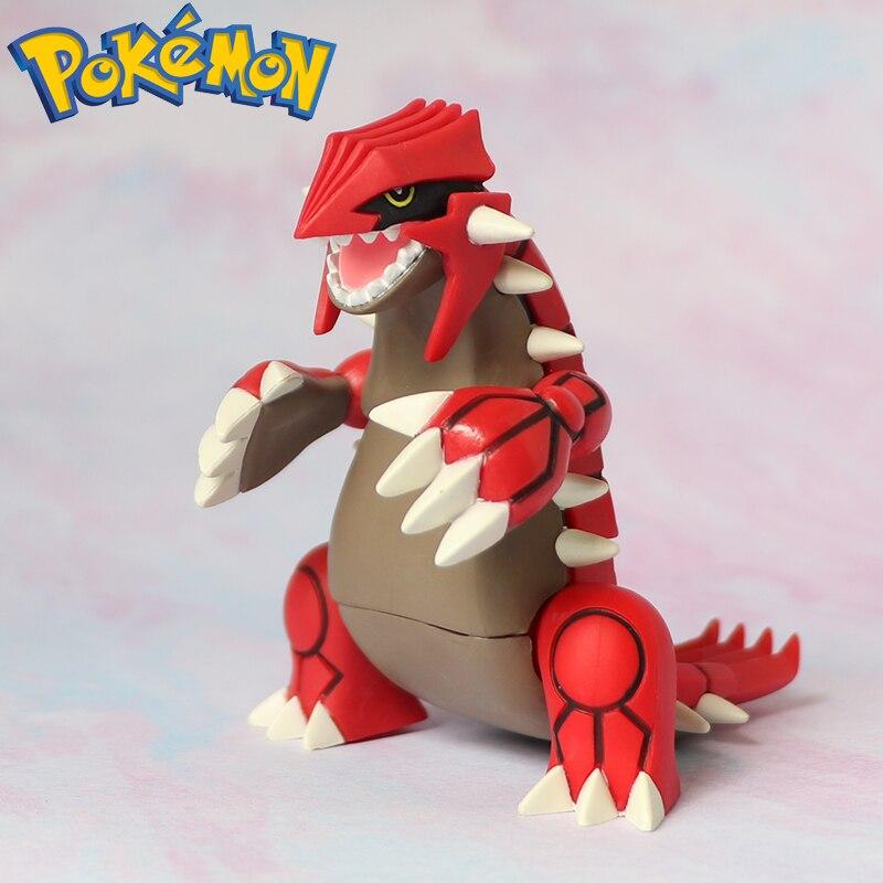 TAKARA TOMY Pokemon Toys Groudon Figures Decoration Anime Action Toy Figures Collection Model Toys Child Christmas Gift