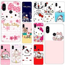 Mobile Phone Case For Xiaomi Redmi Note 4 4X 3 5 6 7 Pro 5A Hard Cover Hello Kitty Shell(China)