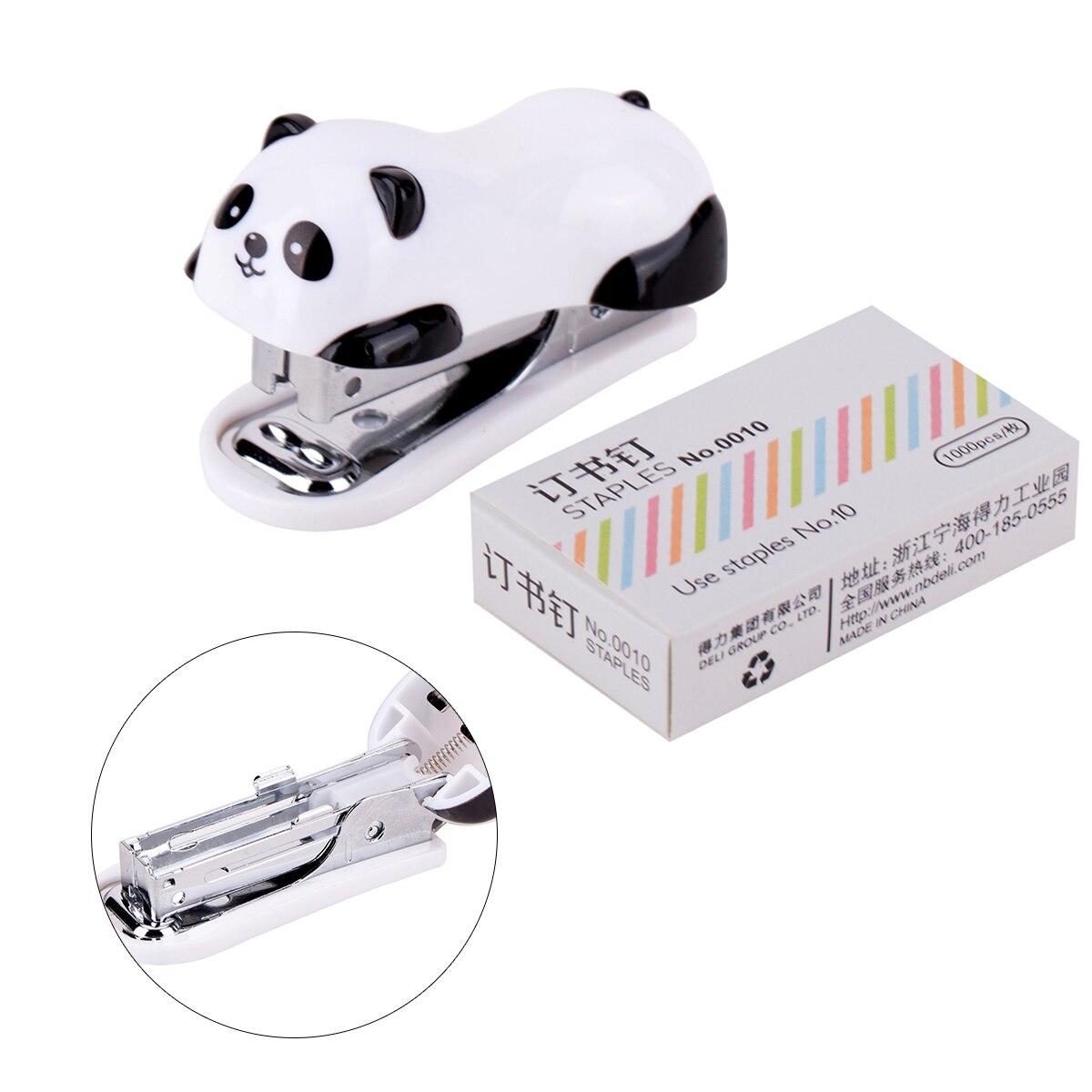 Deli Panda Stapler. Mini Small Student Binding Cute Children Stapler Set With Nails Portable 10 Nails