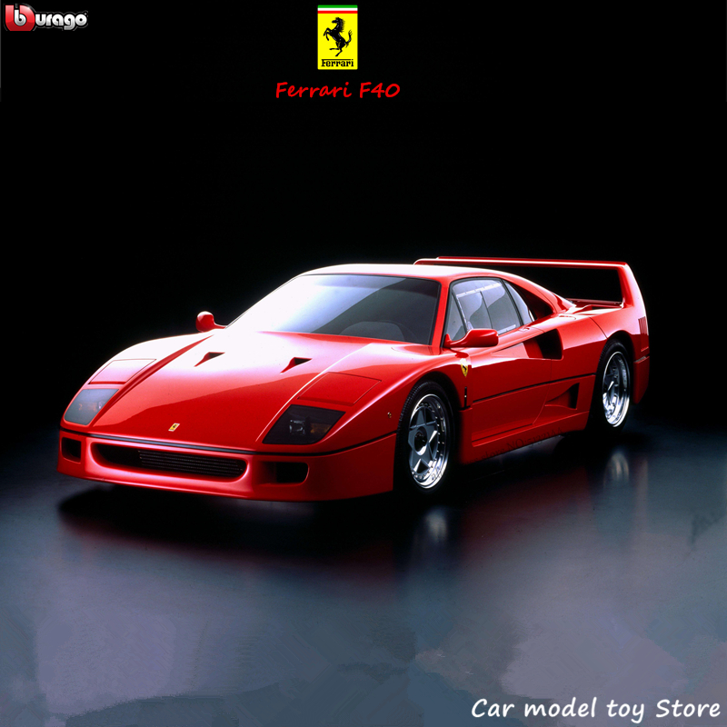 Bburago 1:24 Ferrari F40 Collection Manufacturer Authorized Simulation Alloy Car Model Crafts Decoration Collection Toy Tools