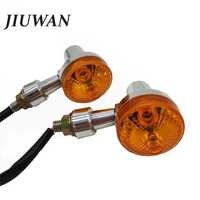 JIUWAN 2Pcs 12V Universal Motorcycle Turn Signal Light Indicator Light For GN125 Cafe Racer Harley Suzuki Lamp Super Bright