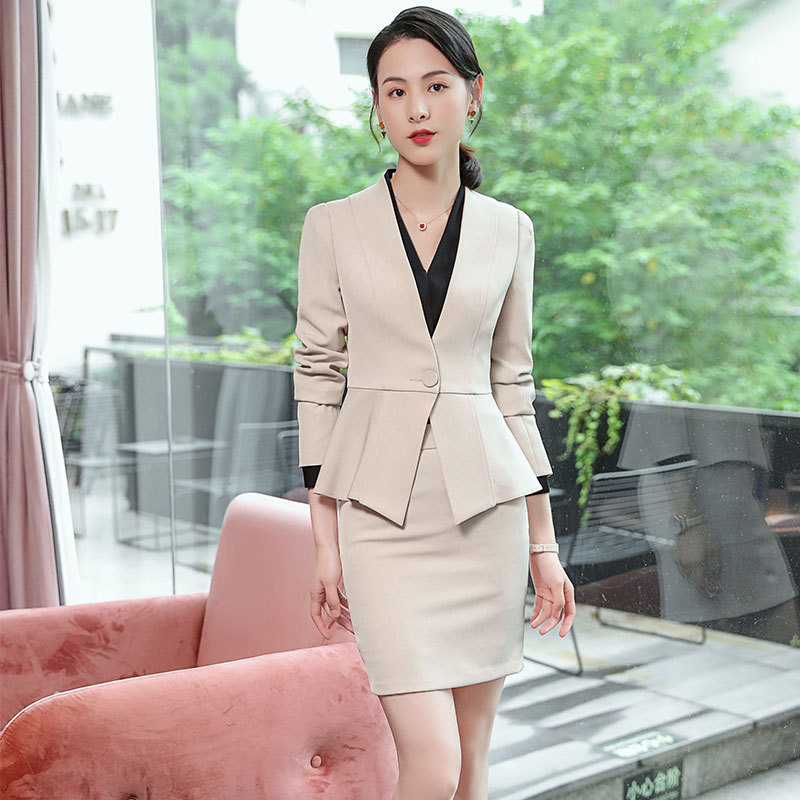 2020 New High-quality Professional Skirt Suit Feminine Casual Slim Long Sleeve Women's Blazer Office Interview Clothing
