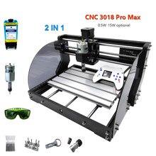 Mise à niveau CNC graveur Laser 3 axes PCB fraisage GRBL contrôle 0.5W-15W puissance bois routeur bricolage Laser gravure machine Support hors ligne