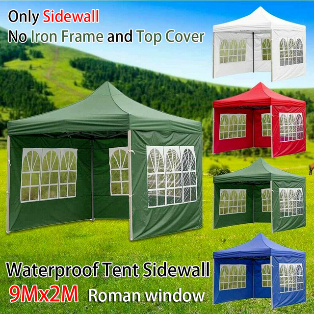 Portable Oxford Cloth Rainproof Garden Shade Party Waterproof Canopy Top Replacement Covers Shelter Windbar Gazebo Accessories