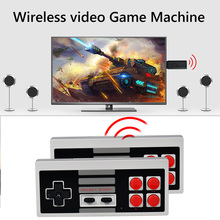 Powkiddy وحدة تحكم ألعاب فيديو لاسلكية PK02 ، 8 بت ، عصا تلفزيون ، محول فيديو