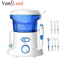 Household 600ML Countertop Portable Electric Dental Water Flosser Oral Irrigator For Teeth With 7 Tips