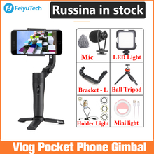 Feiyu Vlog Pocket Handheld Telefoon Gimbal Smartphone Stabilisator Voor Iphone 11/11 Pro/Samsung/Huawei, telefoon Stabilisator Nieuwe/Originele