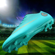Cheap Unisex AG Cleats Soccer Shoes Outdoor lawn TF Football Boots Male Training Futsal Sneakers Teenagers Antiskid Sports shoes