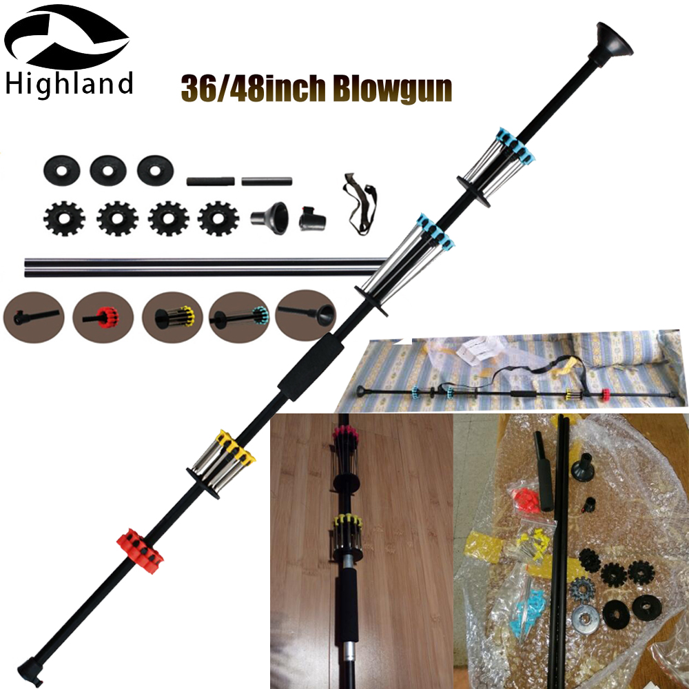 Aluminum 36Inch 48 Inch With A Sight And 48 Darts Blowgun For Outdoor Sports Equipped Entertainment Practice Shooting