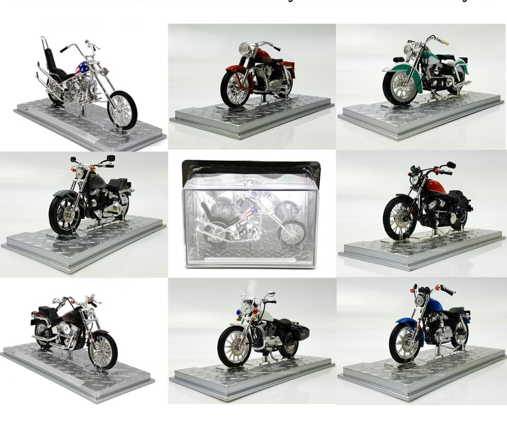 rare Special Offer 1:24 Retro Motorcycle Model Muscle Car A variety of Semi-alloy Collection Model image