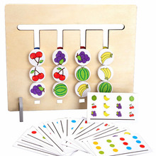 Montessori-Toy Educational-Toys Matching-Game Wooden Logical Training Double-Sided Children