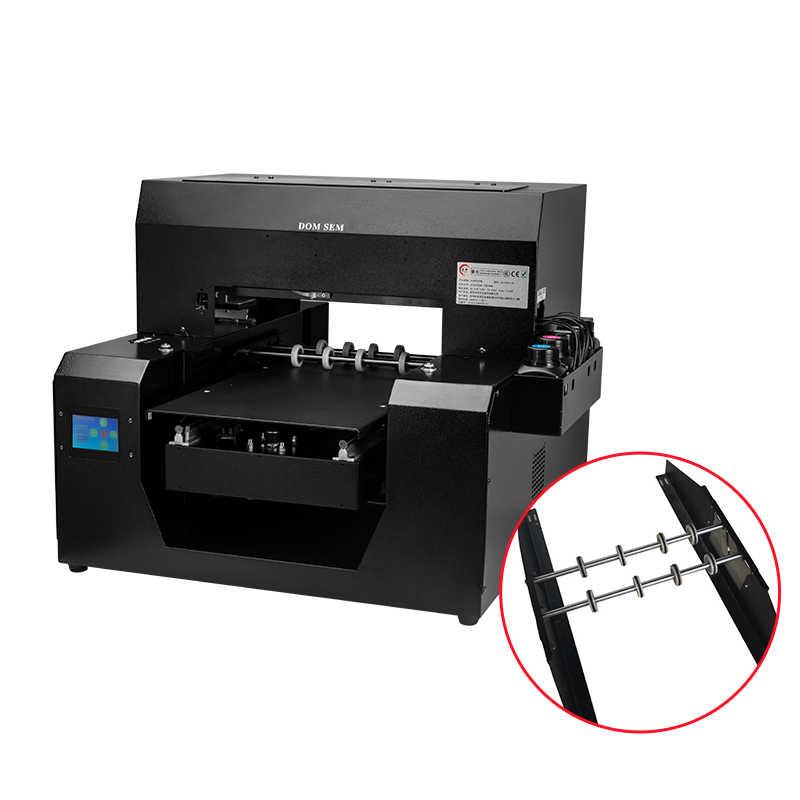 Multi Fungsional A3 Automatic Digital Flatbed/Anggur Botol Air/DTG T Shirt Kain Pakaian UV Printer Impressora Sublimasi