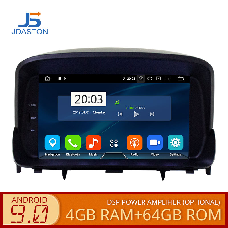 JDASTON Android 9.0 Auto DVD Player Fü<font><b>r</b></font> OPEL <font><b>MOKKA</b></font> WIFI Multimedia GPS Navigation Stereo 2 Din Auto Radio Autoaudio Video Player image