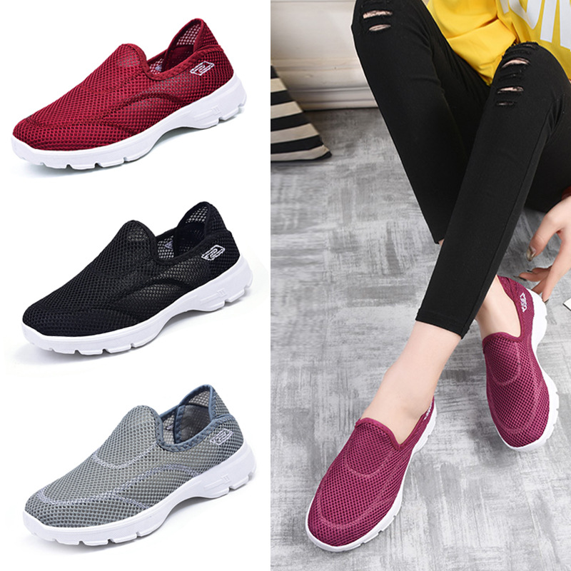 women casual shoes slips ladies fancy shoes women's macines comfortable breathable walking sneakers zapatillas <font><b>mujer</b></font> ST417 image