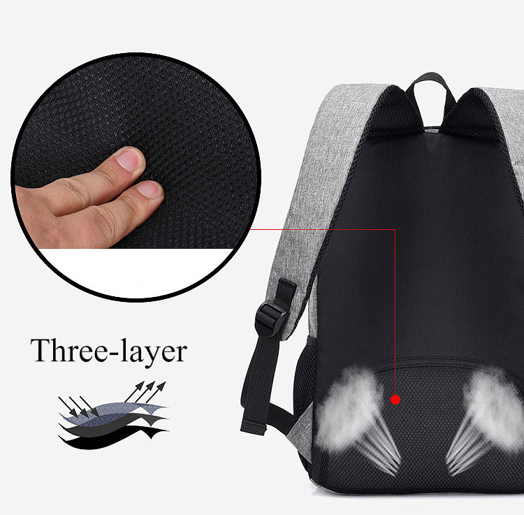 Image 4 - Anti Theft Man Backpack USB Charged laptop Large bagpack Travel Bag For Men School Student Boy girls mochila hombre 2019-in Backpacks from Luggage & Bags