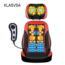 KLASVSA  Back Massager Chair Pad Shiatsu Neck Cevical Lumbar Waist Kneading Cushion Home Office Therapy Seat