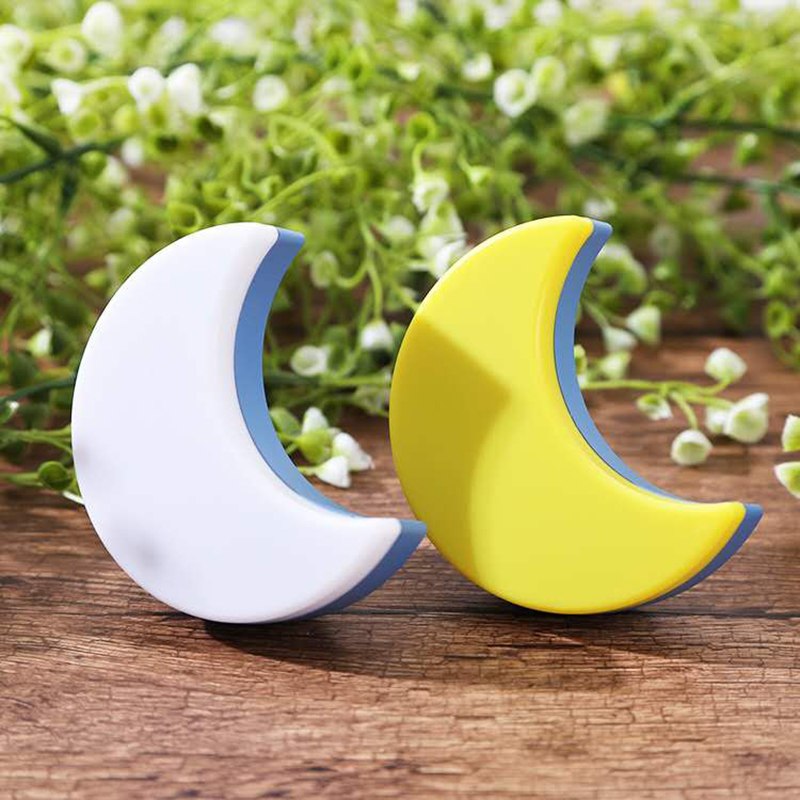 Creative Moon LED Night Light EU US Plug Light Control LED Wall Night Lights For Children Kids Living Room Bedroom Lighting