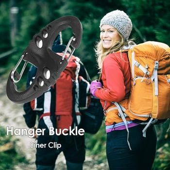 Carabiner Biner Clip 8 S Shape Snap Outdoor Camping Molle Backpack Hanger Buckle for Family Outdoor Camping Accessories image