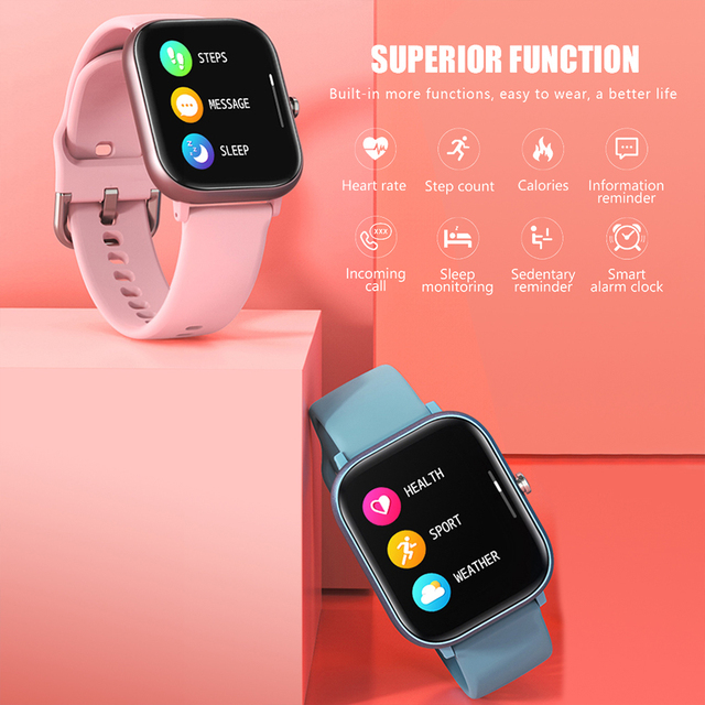 SITLOS 2020 P8 SE 1.4 Inch Smartwatch Men Full Touch Multi-Sport Mode With Smart Watch Women Heart Rate Monitor For iOS Android 3