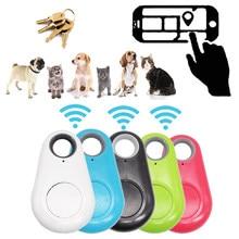 Mini Moda Inteligente Cão Animais De Estimação Tag Sem Fio Bluetooth 4.0 GPS Rastreador Alarme Anti-perdido Saco Criança Localizador de Carteira Chave localizador