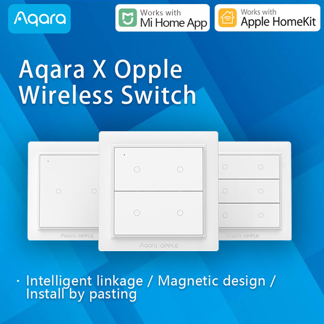 Aqara OPPLE Wireless Scenes Switch Dimmable Smart remote control Zigbee3.0 work with Xiaomi Mi Home App compatible Apple HomeKit