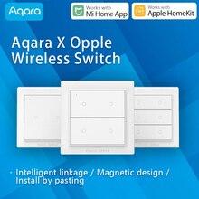 Aqara OPPLE kablosuz sahneleri anahtarı kısılabilir akıllı uzaktan kumanda Zigbee3.0 ile çalışmak Xiaomi Mi ev App uyumlu Apple HomeKit