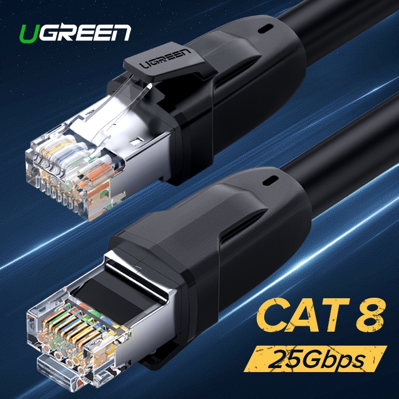 Ugreen Cat8 Ethernet Cable RJ 45 Network Cable FTP Lan Cable Cat 7 RJ45 Patch Cord 10m/20m/30m for Router Laptop Cable Ethernet