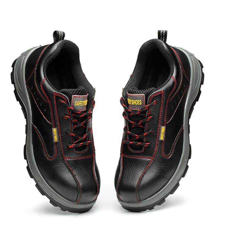 Kış Erkek Iş Güvenliği Ayakkabıları Çelik Ayak Sıcak Nefes erkek günlük çizmeler Delinme Dayanıklı İşçi Sigortası Ayakkabı