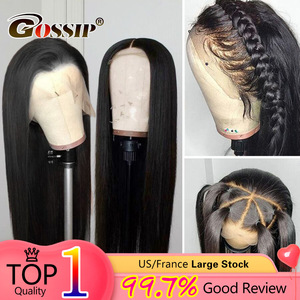 Image 1 - 13x6 Lace Front Wig Straight Lace Front Human Hair Wigs For Black Women Brazilian 360 Lace Frontal Wig Pre Plucked 180% Remy Wig
