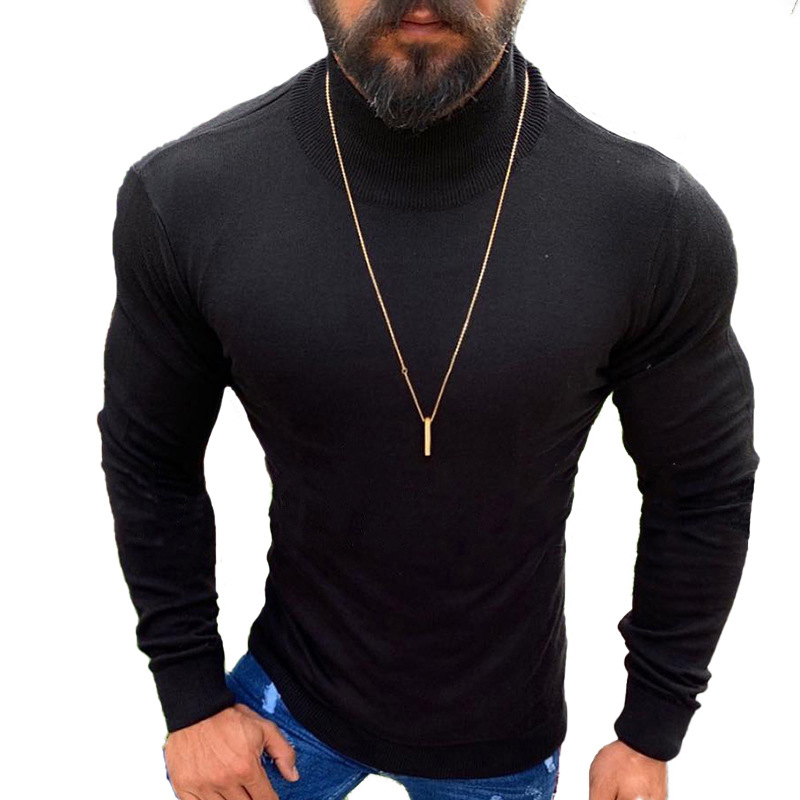 Men Tops Sweater Autumn Slim Fashion T-Shirt Plus Size Shirts Pullover