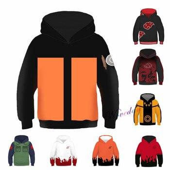 Kids Hoodies Anime Naruto Uzumaki Naruto Uchiha Sasuke Akatsuki Cosplay Costume Hoodie Sweatshirt Jacket Coats