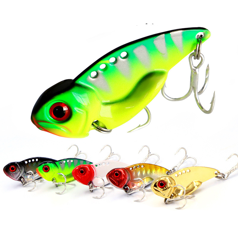 Hot Sale 3D Eyes Metal Vib Blade Lure 7/10/12/14g Sinking Vibration Baits Artificial Vibe For Bass Pike Perch Fishing