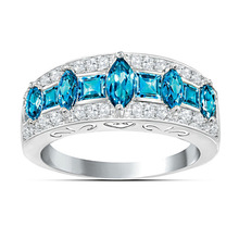 Exquisite Sea Blue Crystal…