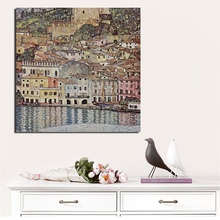 Gustav Klimt Lake Garda Wall Art Canvas Painting Posters Prints Modern Painting Wall Pictures For Living Room Home Decor Cuadros цена 2017